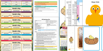 EYFS Lesson Plan and Enhancement Ideas and Resources Pack to Support Teaching on Handa's Hen - planning, Early Years, early years planning, continuous provision, adult led, 'Handa's Hen', Eileen Brown, Africa, hen, chicken, chicks, eggs, counting sto