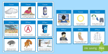 Cause and Effect Matching Cards - Cause, Effect, Cause and Effect, Reading, Reading Skill, Critical thinking, Reading centers, Centers