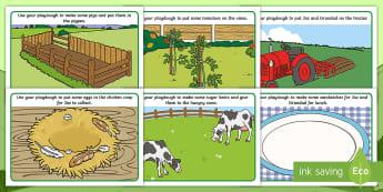 Grandad's Farm Playdough Mats - Grandads Farm, Aistear, Exploring My World, Story, Farm, Animals, Tractor, Pig, Cow, Chicken, Litera