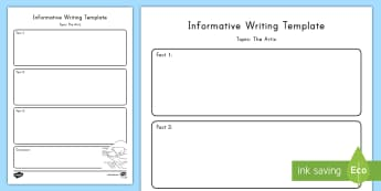 The Arctic Topic Writing Template - Common Core, ELA, Explanatory Writing, Informative Writing, Writing, Graphic Organizer