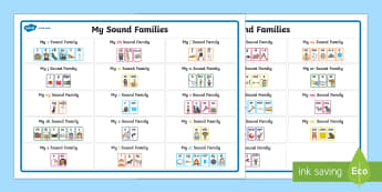 My Sound Families Word Mat - australia, english, sound families, sound family, sound, family, word mat, word, mat, words,Australi