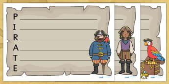 Pirate Acrostic Poem Templates - acrostic poem, pirates, pirate poem, acrostic poem template, pirate poem template, poem template, poem writing frame, poem