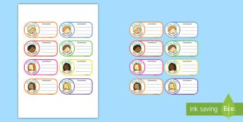 Pegatinas: Juego de rol - El colegio - pegatinas, juego de rol, juego simbólico, colegio, escuela, aula, clase, juego,Spanish