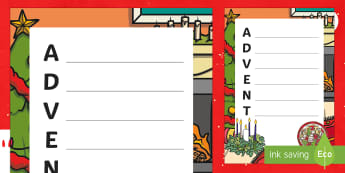 Advent Acrostic Poem - KS1, Key Stage One, Advent Wreath, Literacy, English, christmas, Festive, Origin, Christianity