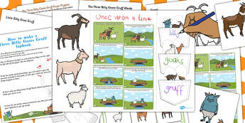 Billy Goats Gruff Lapbook Creation Pack - lapbooks, pack, goat
