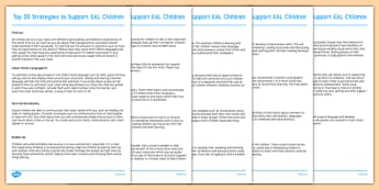 Top 20 Strategies to Support EAL Children - EAL strategies, EAL ideas, EAL support strategies