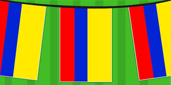 Colombia A4 Flag Bunting - countries, geography, flags, country