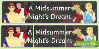 A Midsummer Night's Dream Display Banner - puck, oberon, woods, fairies, forest
