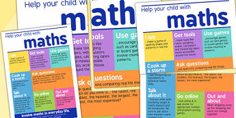 Help Your Child With Maths Print Out - numeracy, math, visual aid