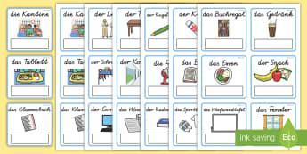 Objekte im Alltag Wortschatz: Wort- und Bildkarten - Objekte im Alltag Wort-und Bilderkarten, Wort-und Bilderkarten, Wortkarten, Bilderkarten, Klassenrau
