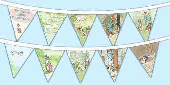 The Tale of Jemima Puddle-Duck Bunting - jemima puddle-duck