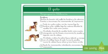 Yoga para niños: El gato - Yoga, posturas, yoga para niños, calmarse, relajarse, consciencia corporal, consciencia emocional,S
