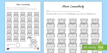 Deutsch Erstes Lesen Und Schreiben Primary Resources 12