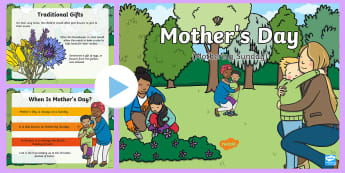 KS1 Mother's Day Assembly PowerPoint - Mothering Sunday, Mum, Mummy, Special, Flowers, Love, Thinking, Talking