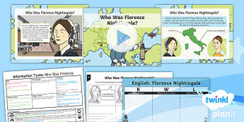 Significant Individuals: Florence Nightingale: Information Texts 1 Y2 Lesson Pack - Nurses, Victorians, Crimean war, mini topic, year one history, Mary Seacole
