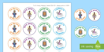 Fairytale Theme Stickers - YLF, Australia, Rewards, Behaviour Management, Early Childhood, Early Years, fairytale, book week,Au