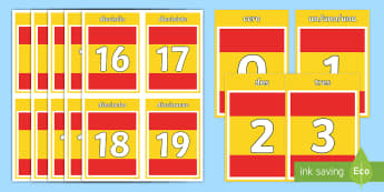 Basic Spanish Numbers Flashcards - Basic Spanish Numbers 0-31 Display Posters - spanish, basic, numbers, 0-31, display posters, display