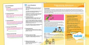 DT: Programming Adventures UKS2 CFE Second Level Planning Overview