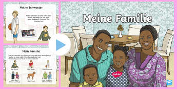 This Is My Family PowerPoint - German - Family, Familie, German, Deutsch, MFL, languages, basic phrases