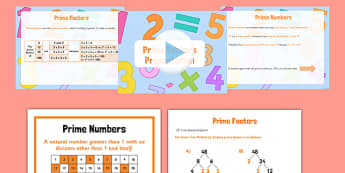 Prime Factors Pack - Key Stage 2, Prime Factors, Prime Numbers, maths