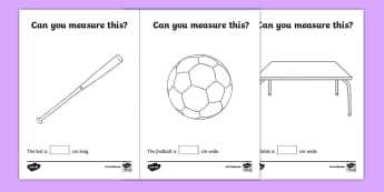 Measuring in cm Activity Sheets - Measuring, CM, centimetres, ruler, rule, shapes spaces and measures, millimetre, large, larger, largest, small, smaller, smallest, sizes, numeracy, measurement, measuring