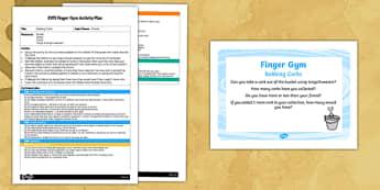 EYFS Bobbing Corks Finger Gym Plan and Prompt Card Pack