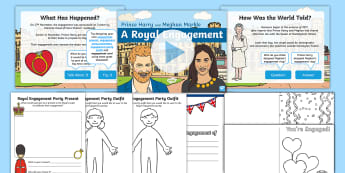KS1 Royal Engagement Information and Activity Pack - Royalty, Prince Harry, Meghan, Engaged, Marry