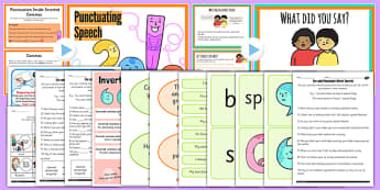 Use and Punctuate Direct Speech Teaching Ideas and Resource Pack