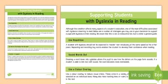 Supporting Children with Dyslexia to Read Adult Guidance - Visual, tracking, dyslexia, adult, Guidance, reading, SEN, 1:1, strategies,