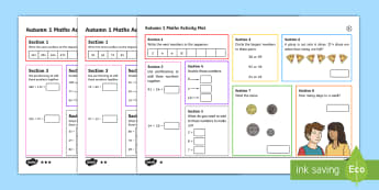 Year 3 Number 1 Maths Activity Mats - Year 3, maths, mathematics, numeracy, activity mats, fast finisher, problem solving, addition, add,