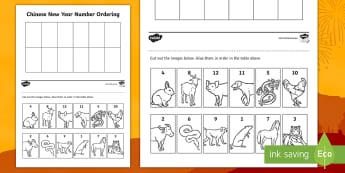 Chinese New Year Ordering Numbers to 10 Cut and Stick Activity Sheet - China, Celebrations, worksheet, Counting numbers, ordering numbers, number sense, Maths Curriculum