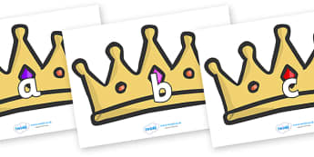 Phase 2 Phonemes on Crowns - Phonemes, phoneme, Phase 2, Phase two, Foundation, Literacy, Letters and Sounds, DfES, display