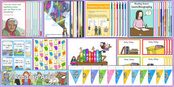 Reading Area Set-Up Resource Pack - New Zealand, Back to School, NZ, read, book, corner, area, signs, display