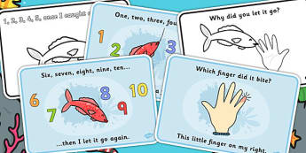 1,2,3,4,5 Once I Caught a Fish AliveSequencing (4 per A4) - 1,2,3,4,5, Once I Caught a Fish Alive, sequencing, nursery rhyme, rhyme, rhyming, nursery rhyme story, nursery rhymes, counting rhymes, counting, 12345 once i caught a fish alive