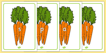 Phase 2 and 3 Phonemes on Carrots - phase 2, phase 3, phonemes, carrots, vegetable, healthy