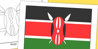 Kenya Flag Display Poster - geography, countries, display, kenya