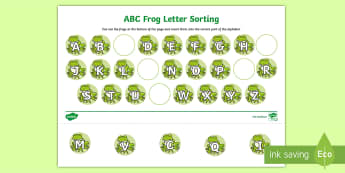 Frosche ABC Arbeitsblatt: Buchstaben einfügen - Germany ,Buchstaben ,Alphabet, Frühling, Kindergarten und Vorschule,,German