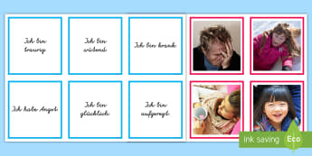 Gefühle Memory Karten  - All about me / Emotions KS2 German,German
