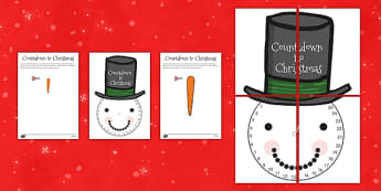 Count Down to Christmas Snowman - snow, visual, display, displays