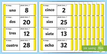Spanish Numbers 1-31 Loop Cards - spanish, spanish number loop cards, spanish loop cards, spanish number activity, spanish numbers, language activities