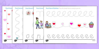Mother's Day Pencil Control Worksheet - mothers day, pencil control, worksheet, pencil, control, activity