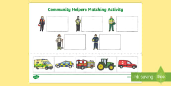 Emergency Services Cut and Paste Matching Activity - matching