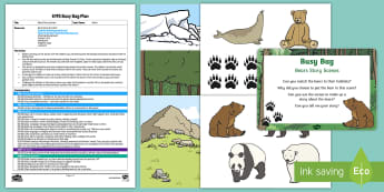 EYFS Bears Story Scenes Busy Bag Plan and Resource Pack - bear, polar bear, brown bear, grizzly bear, animals, science
