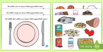Healthy Eating Sorting Activity German - german, healthy eating, healthy eating sorting, healthy eating sorting game, food groups, food groups sorting activity