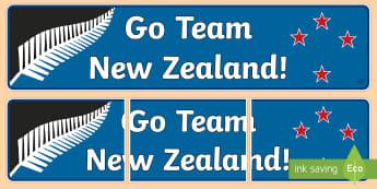 Team New Zealand Banner - banner, challenger, team new zealand, New Zealand, America's cup, sailing, yacht, yachting