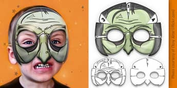 3D Halloween Witch Monster Mask - 3d, halloween, witch, monster, mask