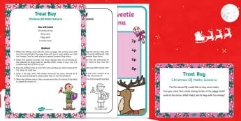 Treat By Christmas Elf Maths Scenario
