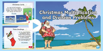 Christmas Multiplication and Division PowerPoint - New Zealand Maths, multiplication, christmas, powerpoint, Year 4-6