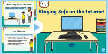 EYFS Staying Safe on the Internet PowerPoint - internet safety day, e-safety, computers, safe, danger, laptops, www, web, browse, EYFS, early years