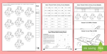 Year 5 Multiplying Four-Digit Numbers by a One-Digit Number Space Themed Maths Activity Games - formal written method, y5 multiplication, multiplication methods, maths games, space, 4d x 1d, multi